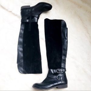 Lucky Brand Zosha Black leather over the knee boot
